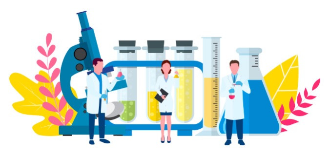 Image depicting scientists going to test a large website