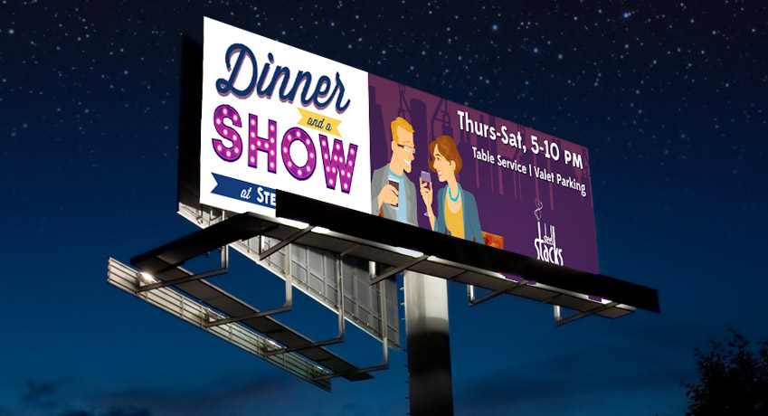 Dinner and a Show Billboard Artsquest