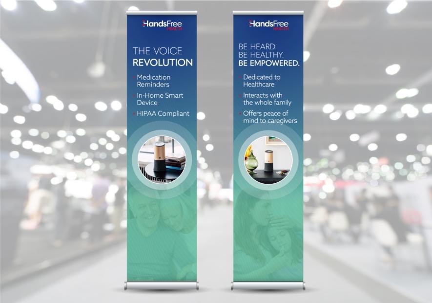 HandsFree Health Trade Show Pop-Up Banners